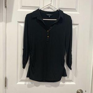 ELLEN TRACY V-Neckline blouse, Button Up size PL